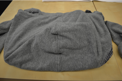 DIY: How to fold a hoodie into a laptop case