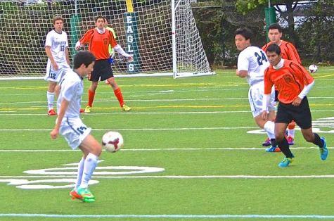 Varsity boy's soccer beats San Mateo 5-2