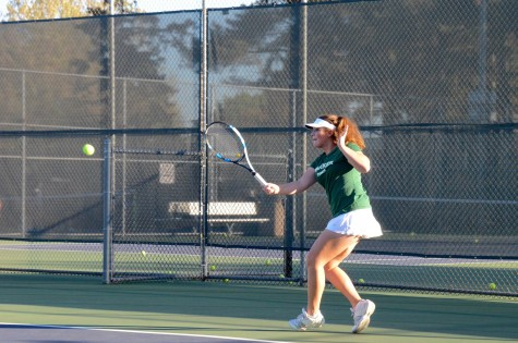 Varsity girls tennis team defeats Crystal Springs Uplands 7-0