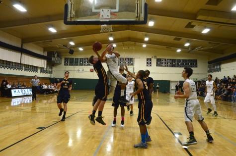 Boys varsity basketball wins against King's Academy