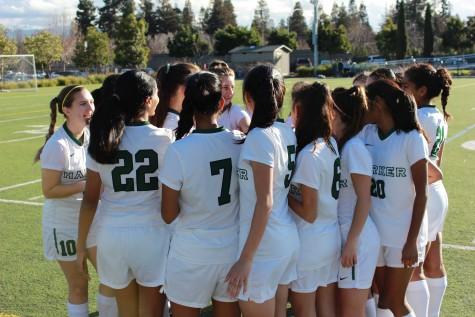 Varsity girls soccer loses home game against Castilleja on senior night