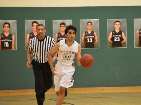 Varsity boys basketball loses senior night game to Menlo