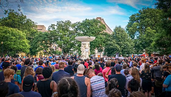 A vigil that took place in Dupont Circle in Washington D.C. on June 13. Over 600 people attended the vigil, which was held by the Muslim American Women's Policy Forum.