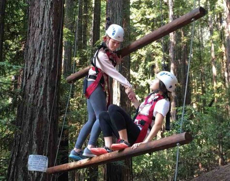 Sophomore class embarks on annual ropes course outing