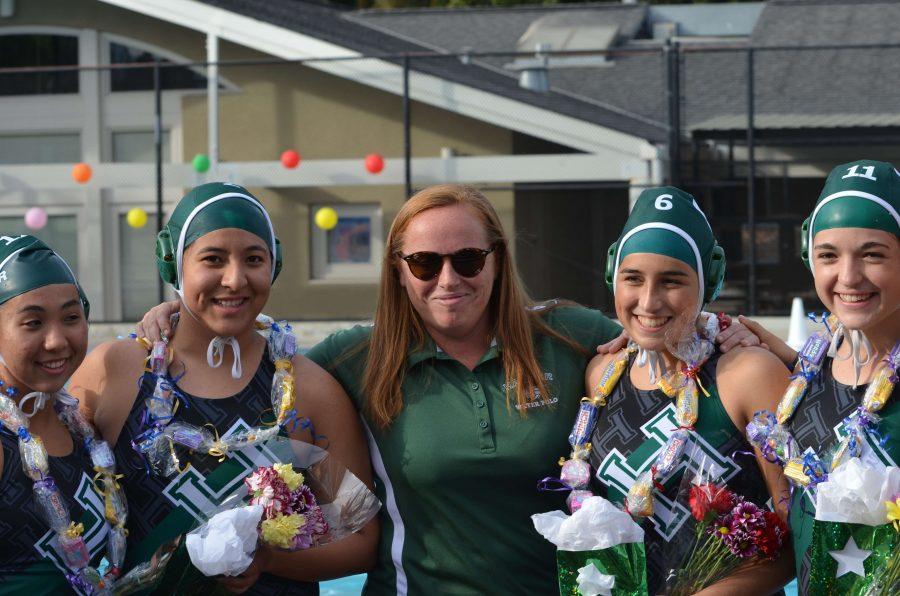 Varsity girls water polo defeats Milpitas on senior night