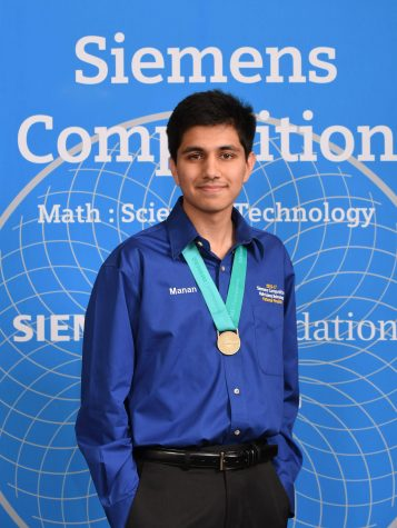 Manan Shah (12) wins $50,000 scholarship of Siemens Competition
