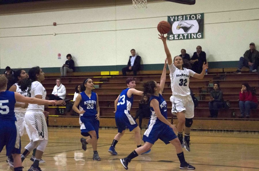 Girls varsity basketball wins first home game of season against Kirby Prep