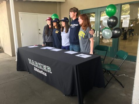 Seniors sign for college athletics