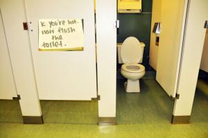 Vandalism hits bathrooms on campus