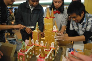 Gingerbread house spirit competition held during long lunch