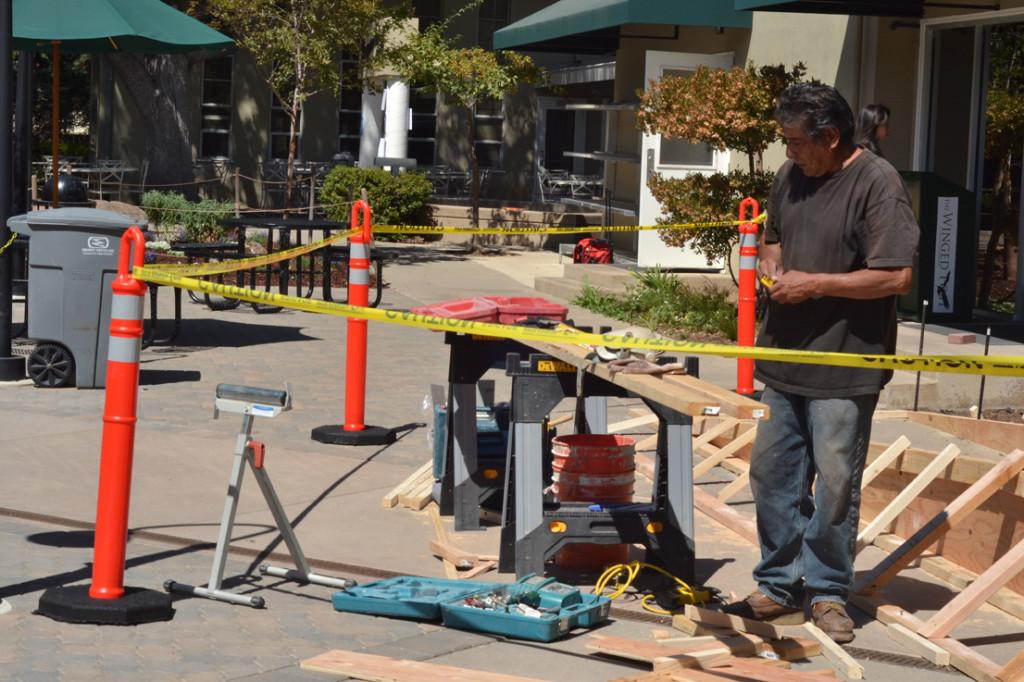 Construction workers began building a wheelchair ramp in front of the nurses office on the morning of August 30. Renovation is expected to be completed by September 4.