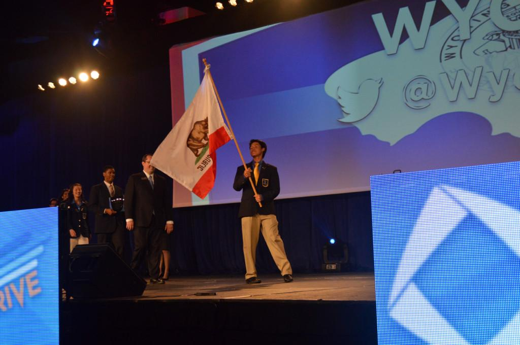 Members+of+California+DECA+walk+across+the+stage+during+the+ICDC+opening+ceremony.+Eighteen+Upper+School+students+attended+ICDC+to+participate+in+business+competitions+and+leadership+programs.