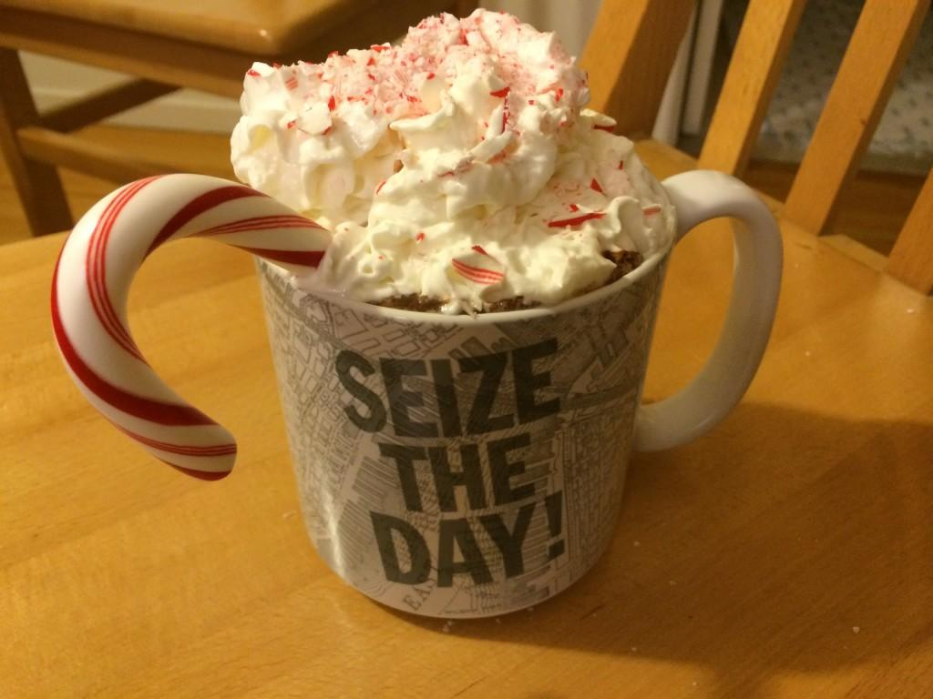 In a Nut Shell: Peppermint Hot Chocolate