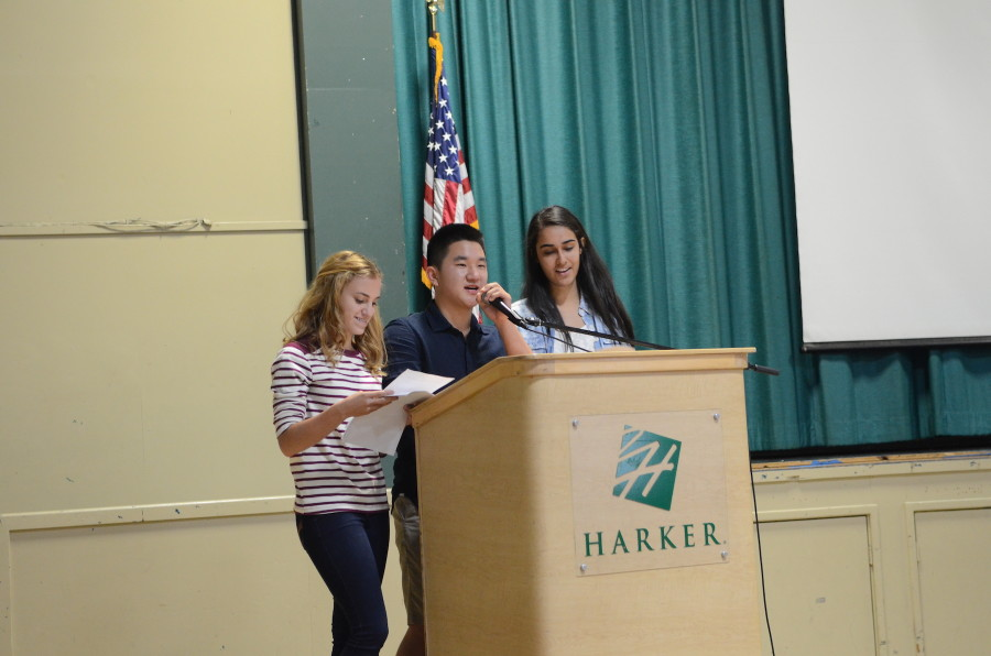 EICs of TALON Sabrina Sidhu (12) and Jacqui Villarreal (12) along with TALON Business Editor Alex Youn (10) remind students to buy yearbooks. There will be a drawing for cookies and a free yearbook during class meeting tomorrow for students who have already turned in their forms.
