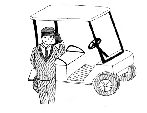 Travel in style with your personal golf-cart limo! A white-gloved chauffeur will be at the ready to suit your every need.
