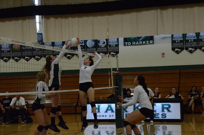 Selin Ozcelik (11) goes up for a kill. The girls are proud of the competitiveness they display on the court.