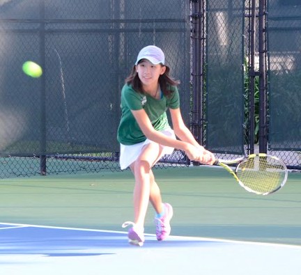 Girls varsity tennis advances to second round of CCS