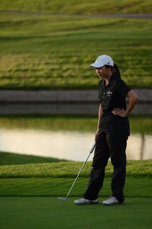 Katherine Zhu (9) advanced farther than any other Harker golfer with her record season