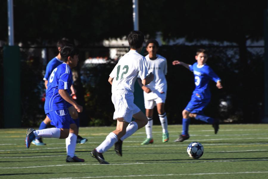 JV Boys make the first kick.