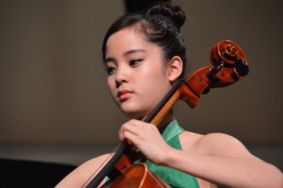 Nana plays her piece. She performed at a United States International Music Competition Benefit Concert on March 21.