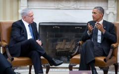 President Obama meets with Israeli Prime Minister Binyamin Netanyahu in October 2014 to discuss Iran's nuclear program.