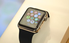 Customers can examine and play with the Apple Watch in Apple stores. Apple Watches start appearing around campus as students and faculty purchase the device after the release date.