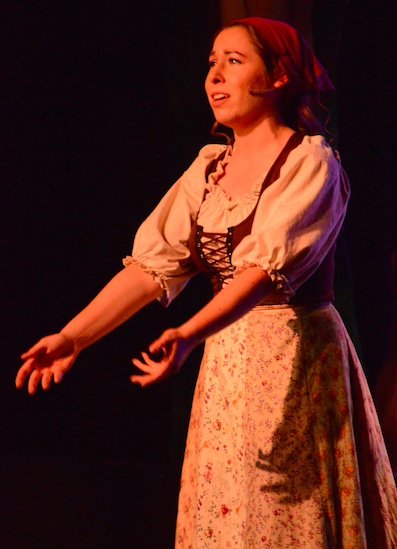 Caroline Howells (12) sings in this year's Spring Musical.  The
