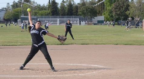 Varsity softball loses to Castilleja on senior night