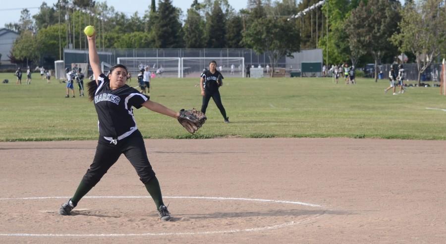 Varsity softball loses to Castilleja on senior night