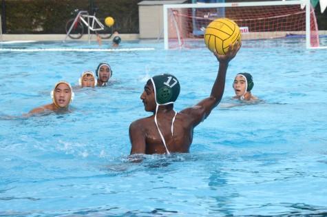 Varsity boys water polo defeats Cupertino 20-5