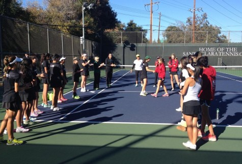 Varsity girls tennis defeats Sacred Heart Prep in CCS matchup