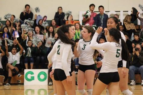 Varsity girls volleyball defeats Mercy Burlingame on senior night