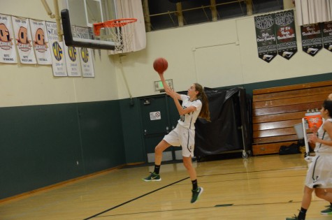 Varsity girls basketball scrimmages against Santa Cruz High School