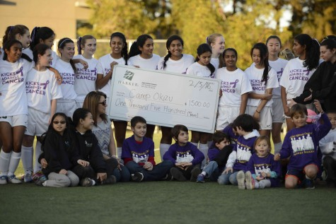 Soccer teams lose to Menlo High School on Kicks Against Cancer