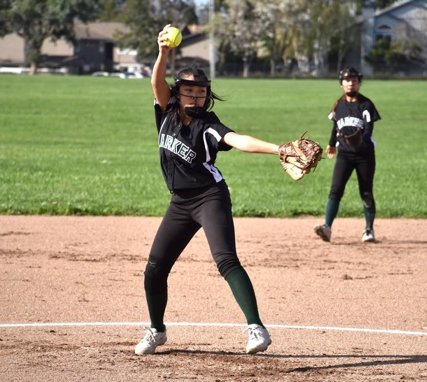 Freshman Taylor Lam pitched the entire junior varsity game today. The team scored 21 runs and held Gunderson High to 2 runs.