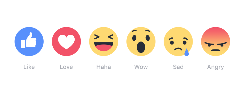 Facebook has added five new Reaction options in addition to being able to