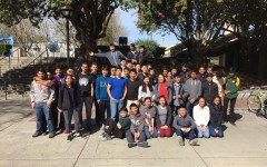 Forty-eight Harker students who participated in the TEAMS competition stand inside San Jose State University. The competition, which took place Feb. 27, included two other schools, Palo Alto High School and Mountain View High School.