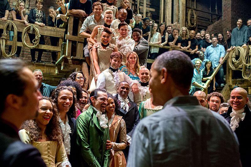 President+Obama+greets+the+cast+of+Hamilton+after+viewing+the+play+with+his+family.+The+musical+drew+the+attention+of+numerous+famous+figures%2C+including+Bernie+Sanders%2C+Kanye+West%2C+and+Beyonce.+