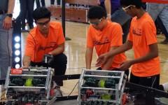 Students compete in VEX Robotics tournaments