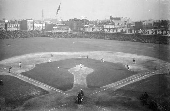 The Cubs play at West Side Park in the 1906 World Series. The Cubs have not won a World Series since 1908.
