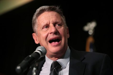 Gary Johnson delivers a speech at a rally. Johnson garnered more votes than any other third party candidate.