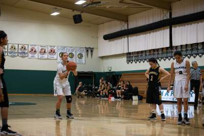 Varsity girls basketball team faces Santa Clara High School in scrimmage