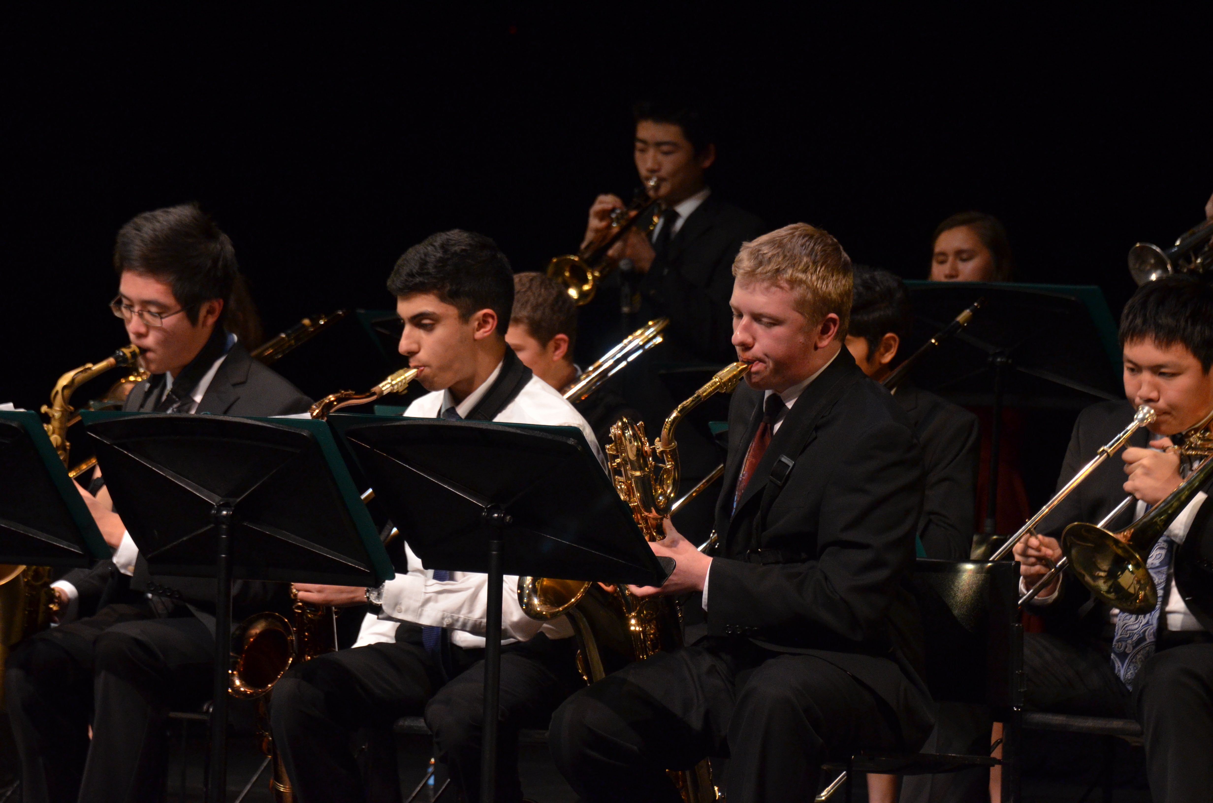 The upper school orchestra, lab band and jazz band performed at the concert. The Spring Concert will be in April.