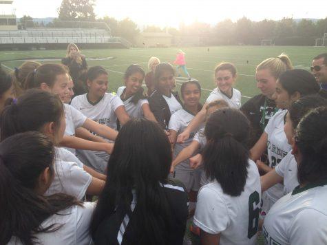 Varsity girls soccer plays Castilleja in Kicks Against Cancer game