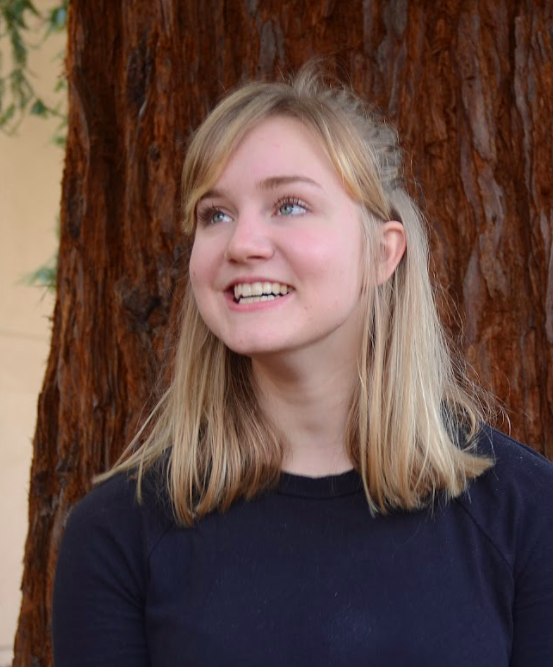 """""""I'm an empathetic person. I use that word because I think theater has helped me with that. I mean, you play different characters and you enter people's lives for a bit, and it helps you see different perspectives. Sympathy is different than empathy. I think I'm an open-minded person,"""" Marina Newman (12) said."""