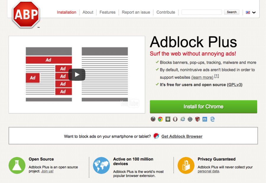 The+Adblock+Plus+browser+extension.+Cybersecurity+browser+extensions+similar+to+Adblock+protect+user+privacy+when+browsing+the+internet.+