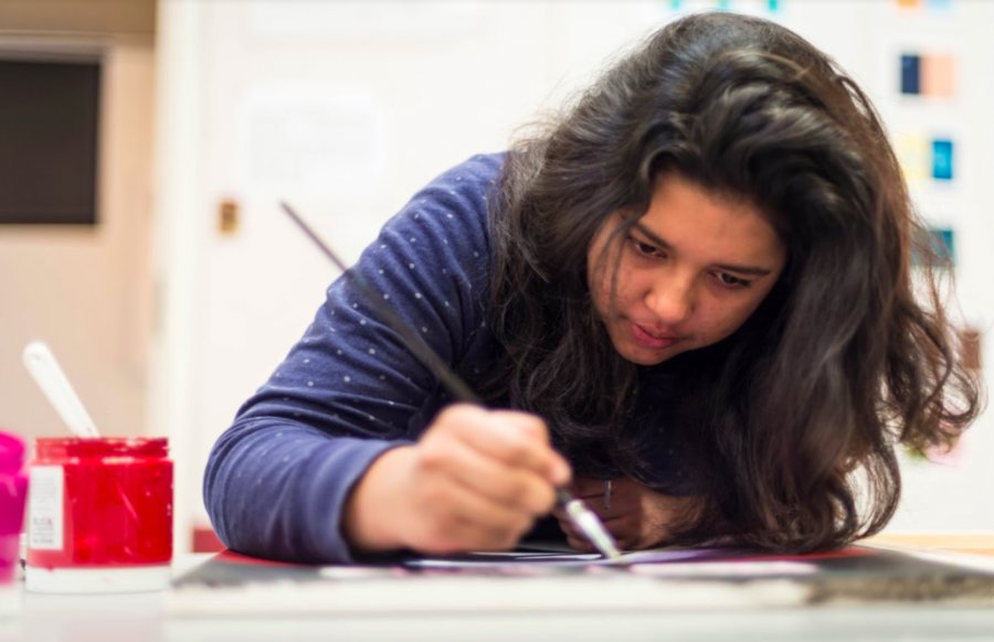 """""""I've been doing [art] since I was really little and it's kind of just become a part of my life. I feel like it's the only way I can express my feelings,"""" Irene Bashar (12) said."""