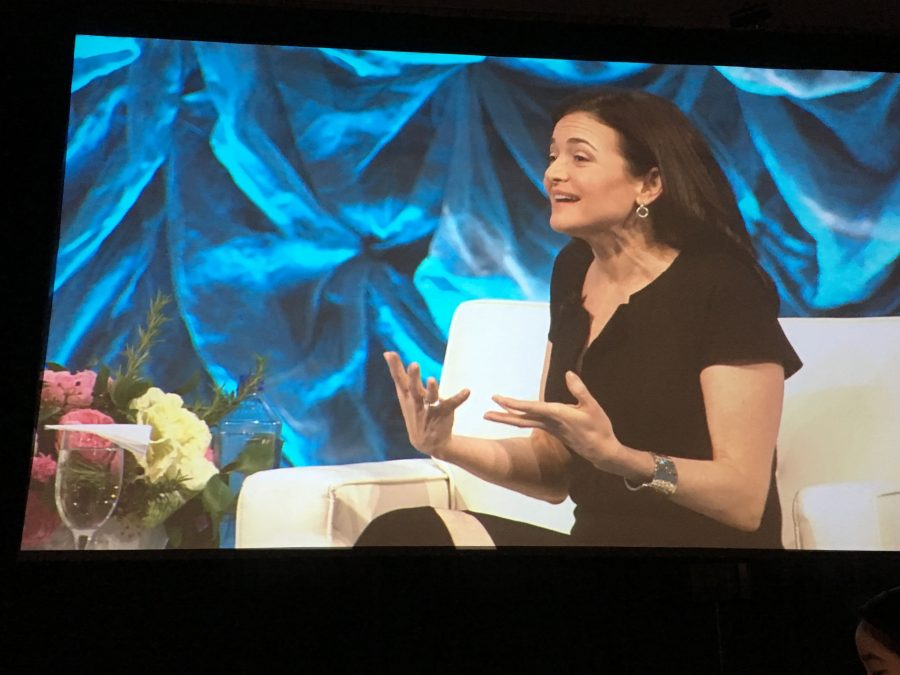 Facebook CEO Sheryl Sandberg spoke at the Watermark Conference Silicon Valley. Watermark sponsored 17 Harker students to attend the conference.