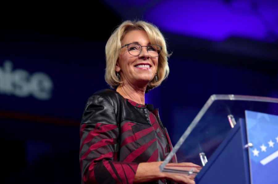 Betsy DeVos, Trump's Secretary of Education, has been particularly controversial for her stances on public education. Her recent and unexpected objection to a repeal of a guideline that protected transgender students' right to use the bathroom of the gender they identify as came at odds with the position of Attorney General Jeff Sessions.