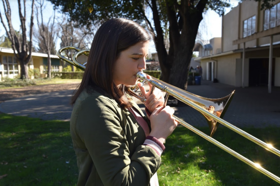"""""""Trombone is a male-dominated instrument, and sometimes it is easy to be overlooked. When I went to the audition, I played an orchestral excerpt for [the judges]. They said, 'Could you play that again, dear?' I felt really conscious being a woman playing the trombone. I knew that they wouldnt call anybody else in the audition, dear. It reinforced that I always have to be confident and mature, when Im playing trombone because it was patronizing to be called dear in an audition against people who I knew wouldnt be called dear,'"""" Melinda Wisdom (12) said."""